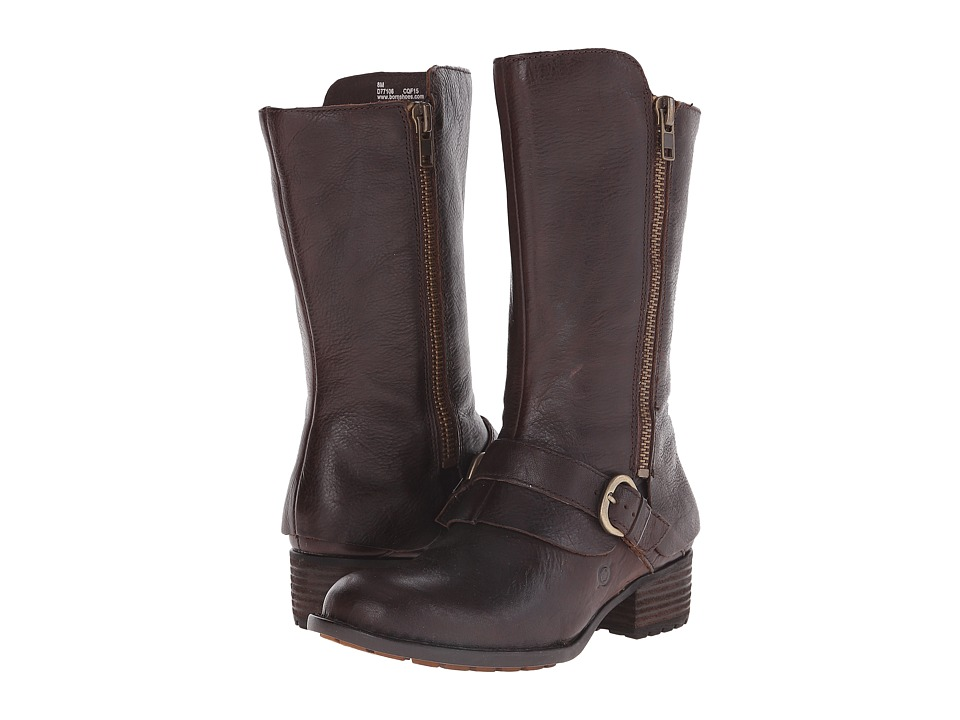 Born - Aubra (Mahogany/Brown Full Grain Leather) Women's Zip Boots