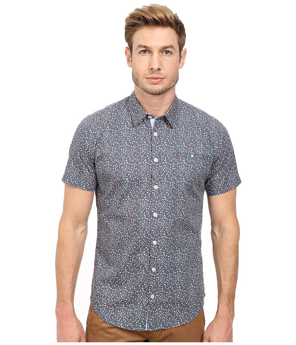 Moods of Norway - Per Vik Short Sleeve Shirt 151068 (Majolica Blue) Men's Short Sleeve Button Up