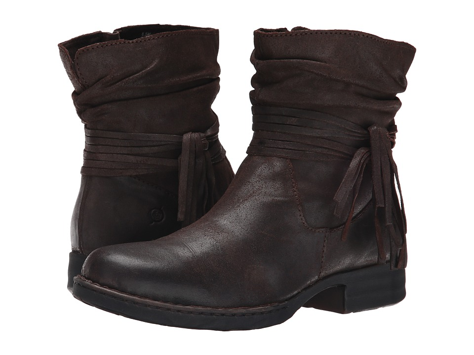 Born - Cross (Castagno/Dark Brown Oiled Suede) Women's Boots