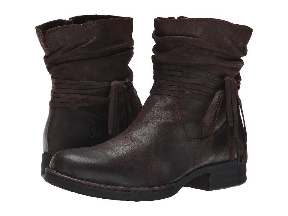 Born - Cross (Castagno/Dark Brown Oiled Suede) Women's Boots