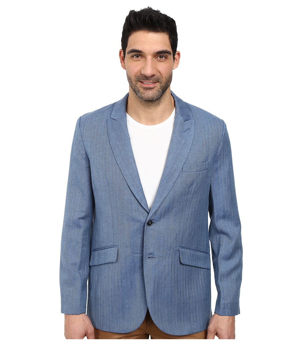 Robert Graham - Monterey Long Sleeve Sportcoat (Blue) Men's Jacket