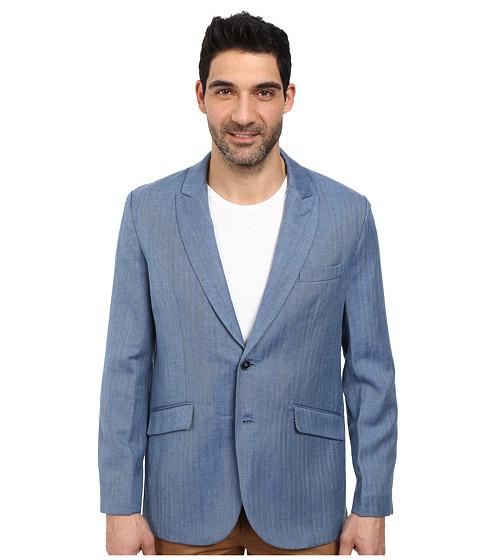 Robert Graham - Monterey Long Sleeve Sportcoat (Blue) Men