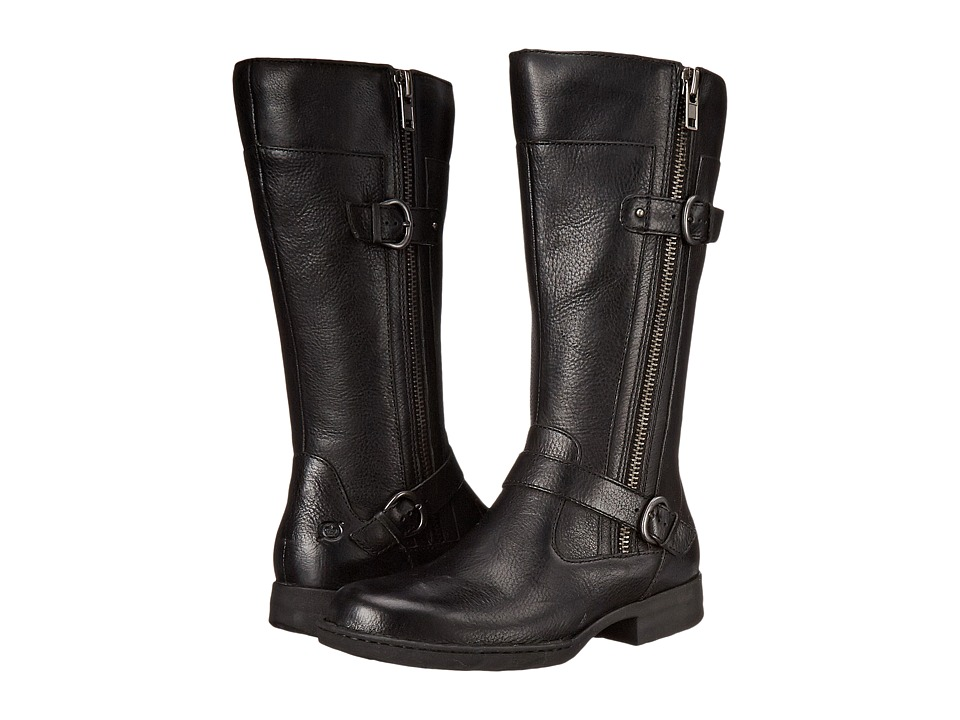 Born - Kendell (Black Full Grain Leather) Women's Zip Boots