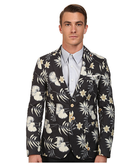 Scotch & Soda - Floral Washed Blazer (Grey) Men