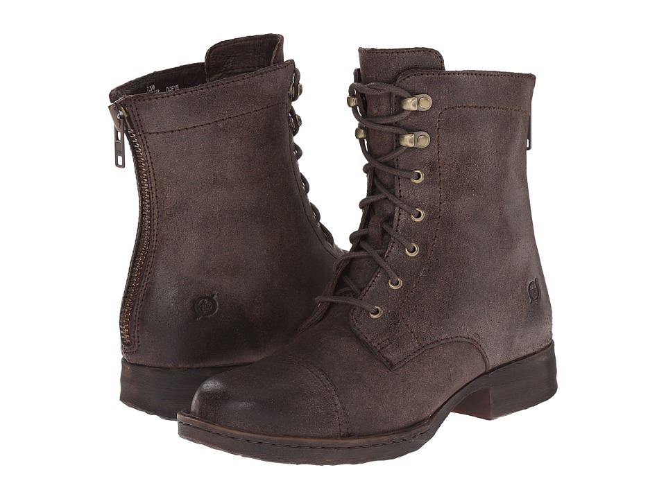 Born - Kelisa (Castagno/Dark Brown Oiled Suede) Women's Lace-up Boots