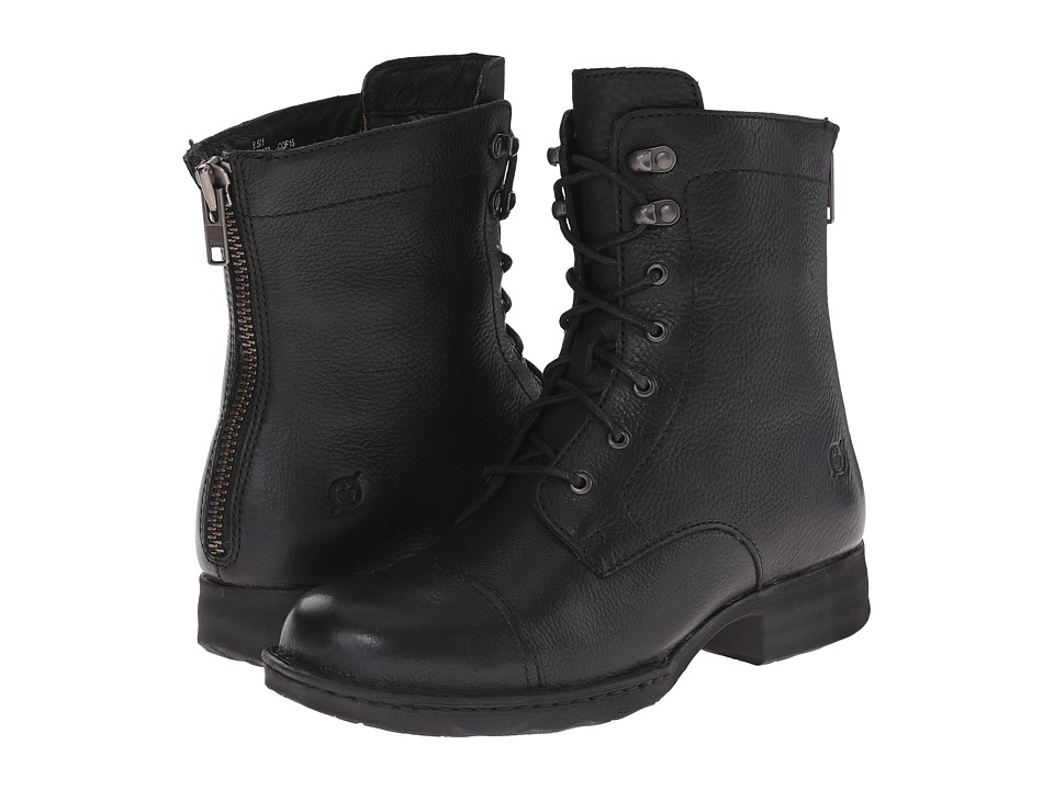 Born - Kelisa (Black Full Grain Leather) Women's Lace-up Boots