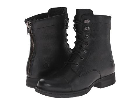 Born - Kelisa (Black Full Grain Leather) Women's Lace-up Boots
