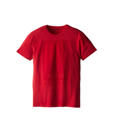 True Religion Kids - Resist Print Logo Tee (Big Kids) (True Red) Boy