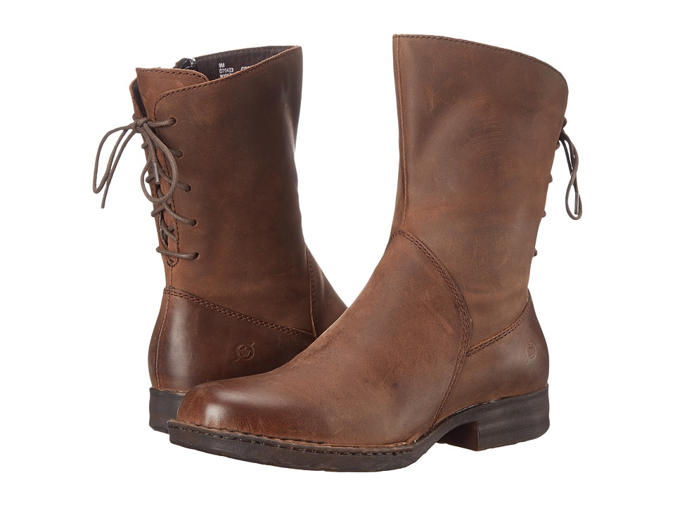 Born - Kierra (Boardwalk/Dark Brown Full Grain Leather) Women's Zip Boots