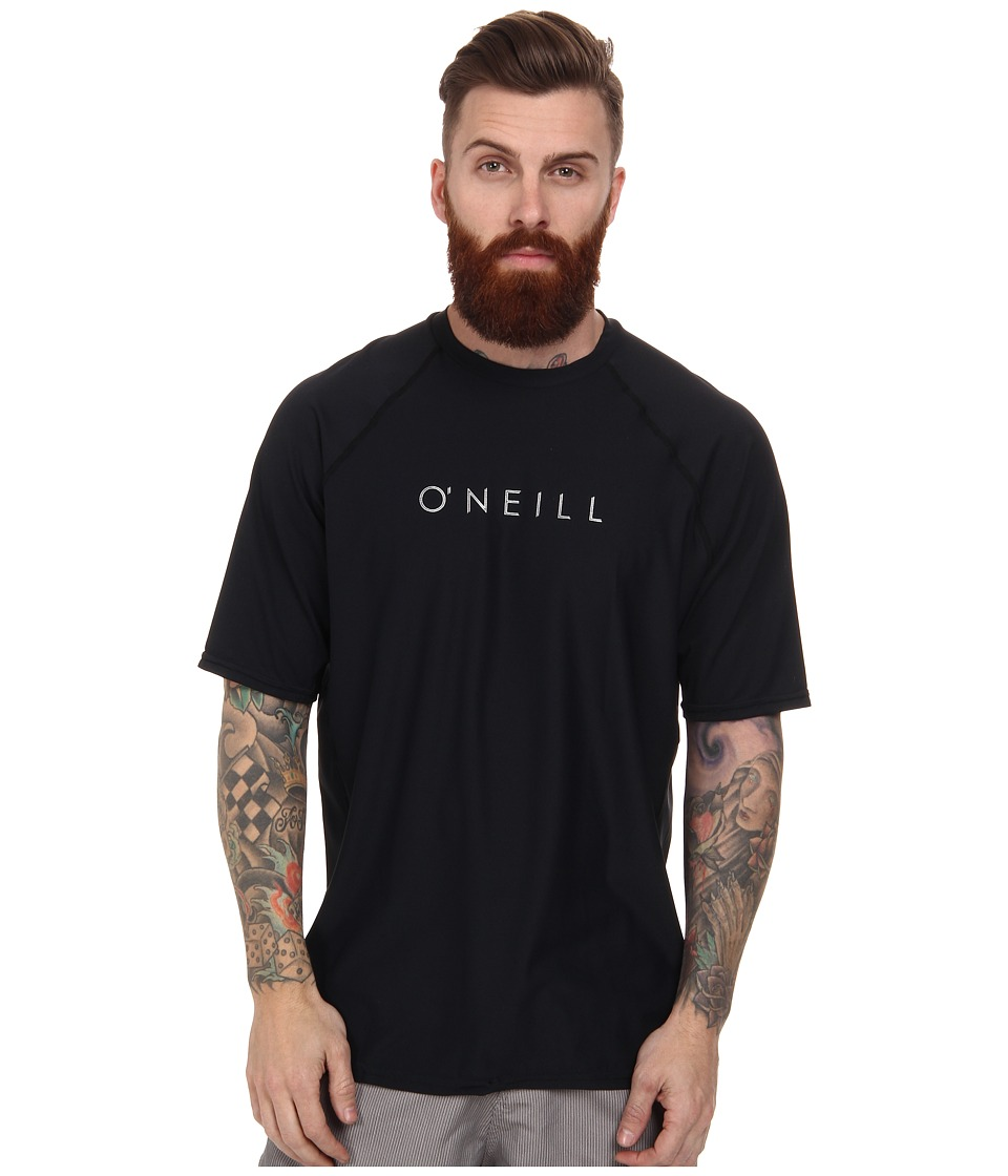 O'Neill - 24-7 Tech Short Sleeve Crew (Black) Men's Swimwear