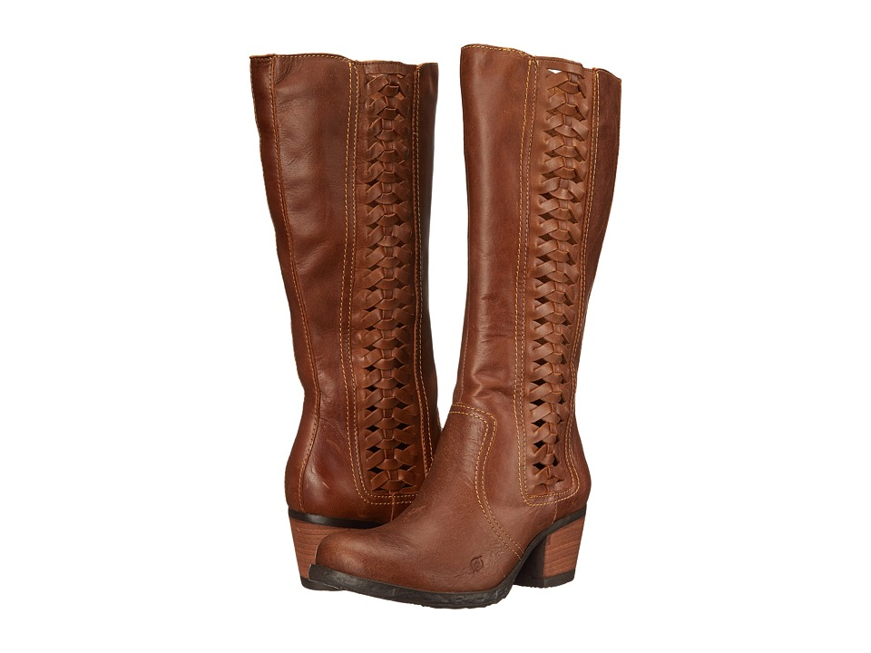 Born - Ochoa (Tan Full Grain Leather) Women's Zip Boots