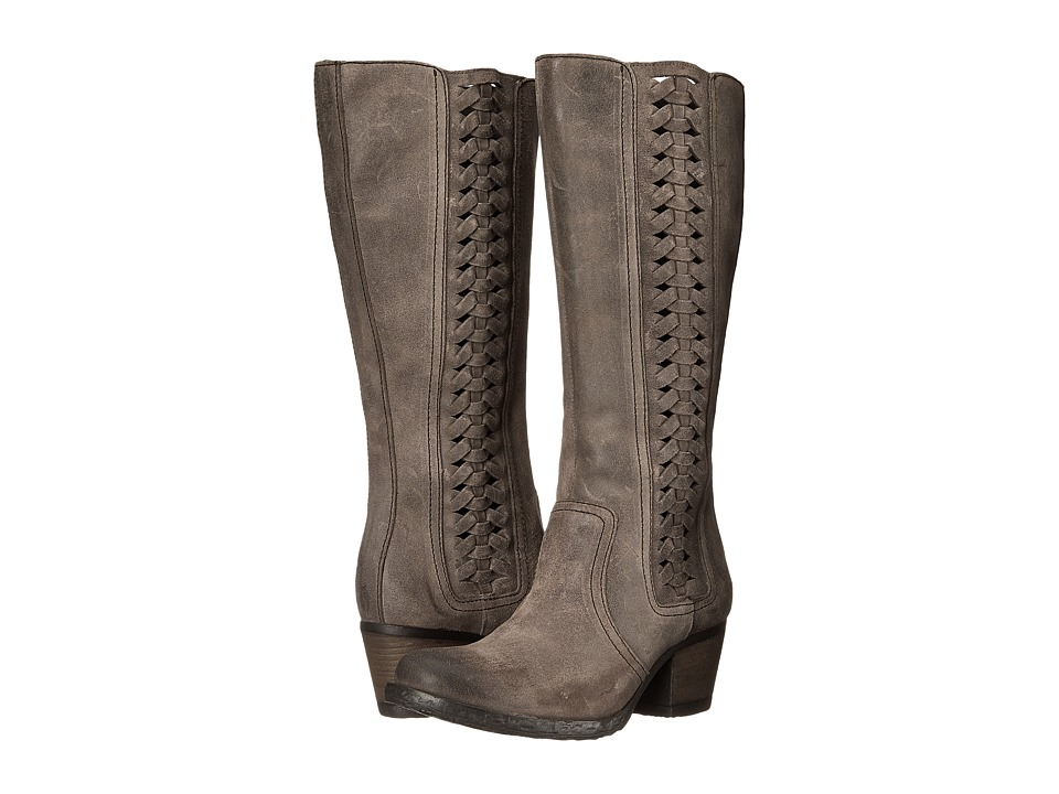 Born - Ochoa (Deep Grey Full Grain Leather) Women's Zip Boots