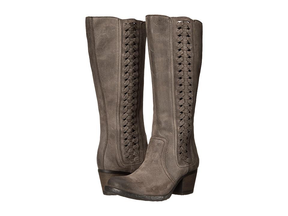 Born - Ochoa (Deep Grey Full Grain Leather) Women's Zip Boots