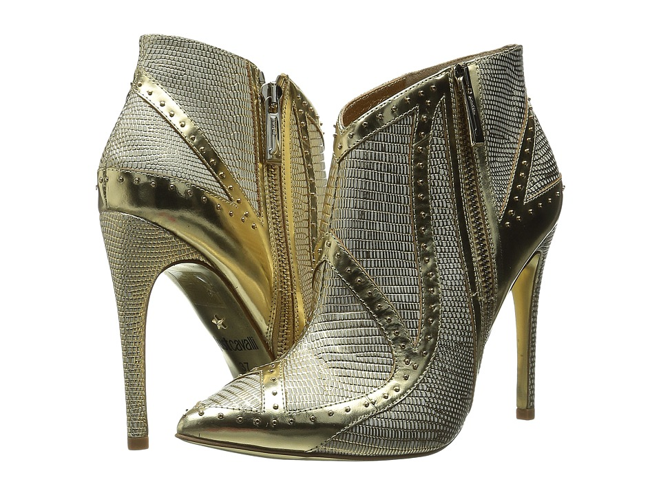 Just Cavalli Studded Bootie (Gold) Women