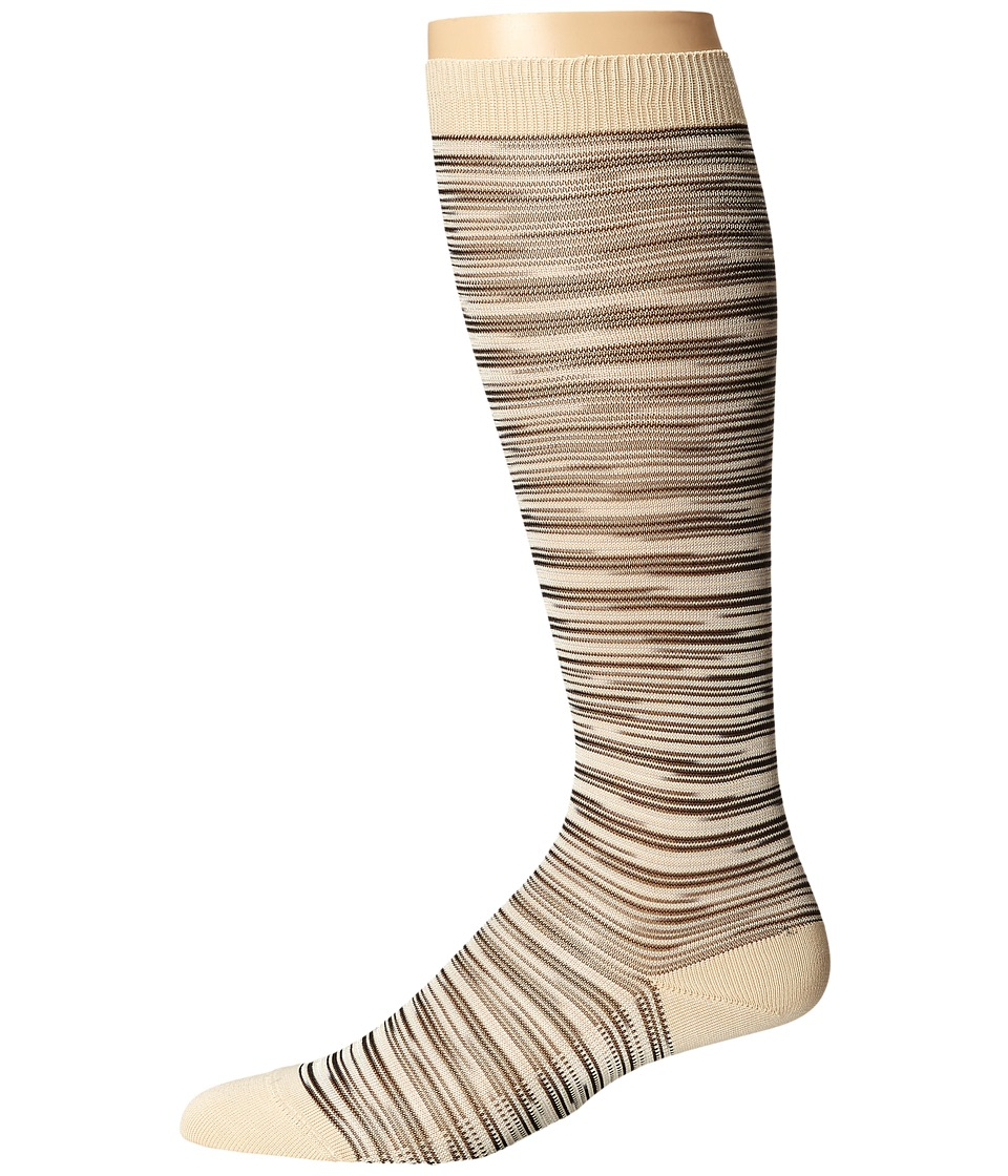Missoni - GM00CMD4929 (Beige) Men's Knee High Socks Shoes