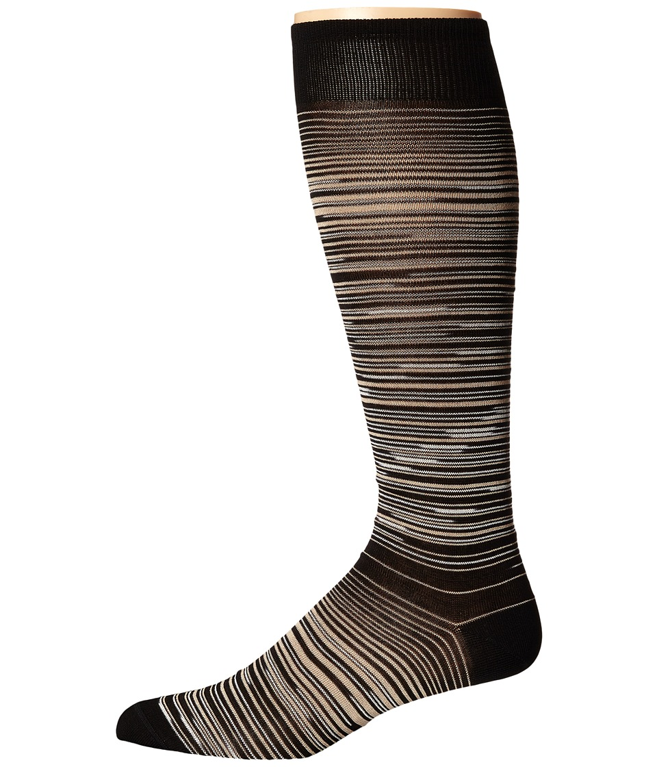 Missoni - GM00CMU4951 (Black/Beige) Men's Knee High Socks Shoes