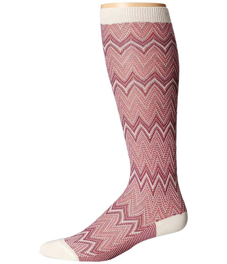 Missoni - GM00CMD4930 (Pink) Men's Knee High Socks Shoes
