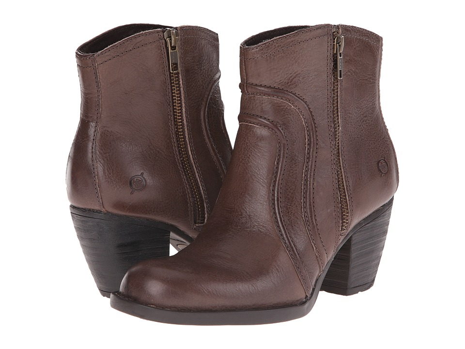 Born - Anny (Under/Light Grey Full Grain Leather) Women's Zip Boots