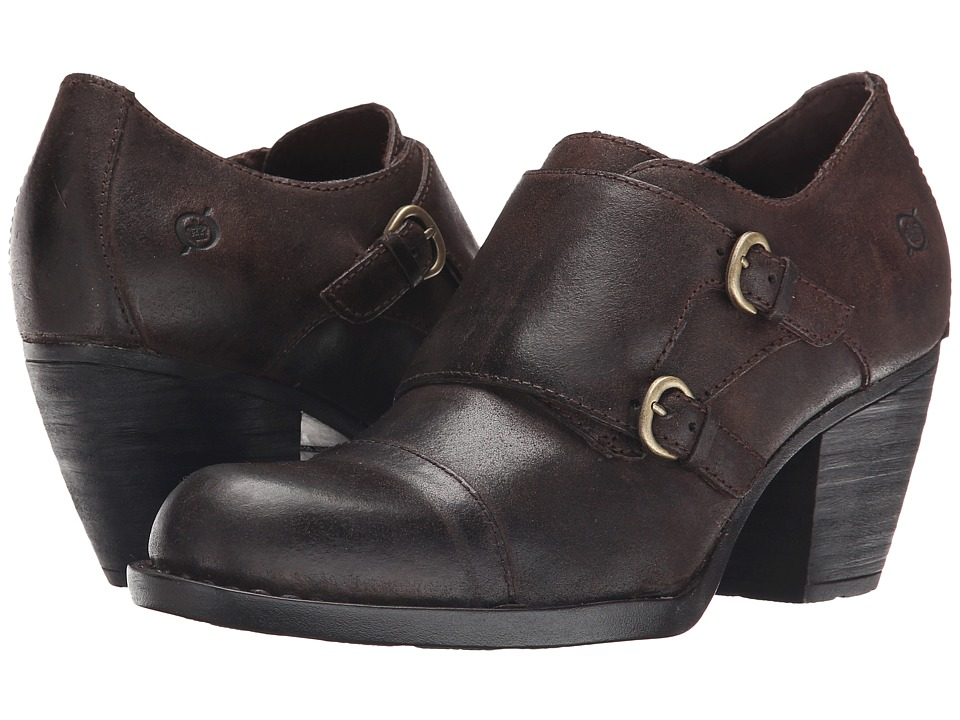 Born - Davis (Castagno/Dark Brown Oiled Suede) High Heels