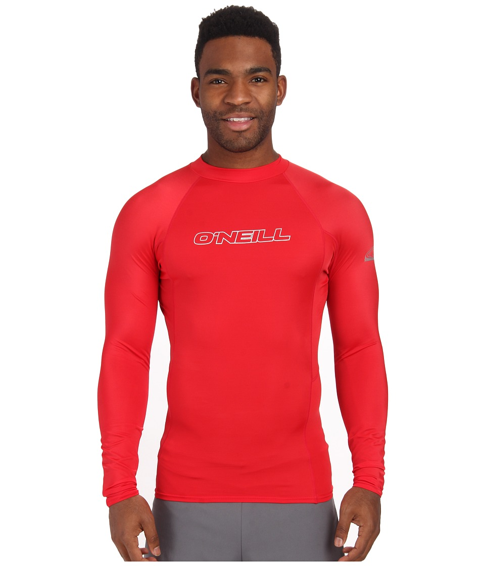O'Neill - Basic Skins L/S Crew (Red) Men's Swimwear