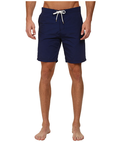 Scotch & Soda - Long Solid Swimshorts (Cobalt) Men's Swimwear