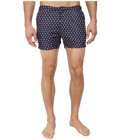 Scotch & Soda - Polka Dot Nylon Swimshorts (Blue) Men's Swimwear