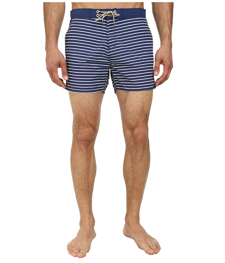 Scotch & Soda - Striped Swimshorts (Navy) Men's Swimwear