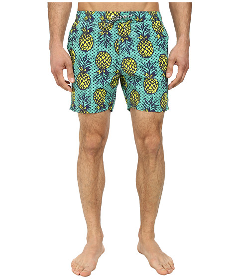 Scotch & Soda - Medium Aloha Swimshorts (Teal) Men's Swimwear