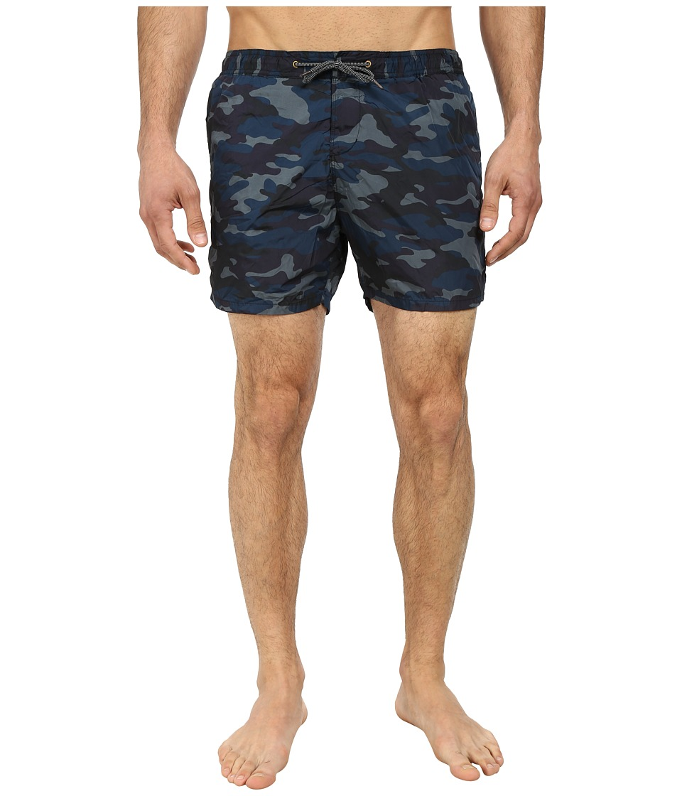 Scotch & Soda - Camo Nylon Swimshorts (Navy) Men's Swimwear