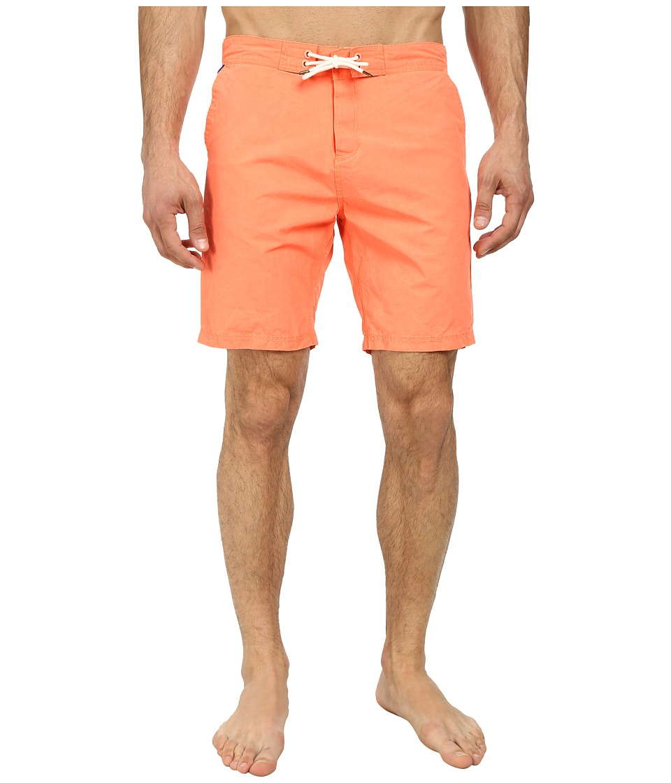 Scotch & Soda - Long Solid Swimshorts (Red) Men's Swimwear