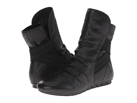 Born - Dulcie (Black Full Grain Leather) Women's Pull-on Boots