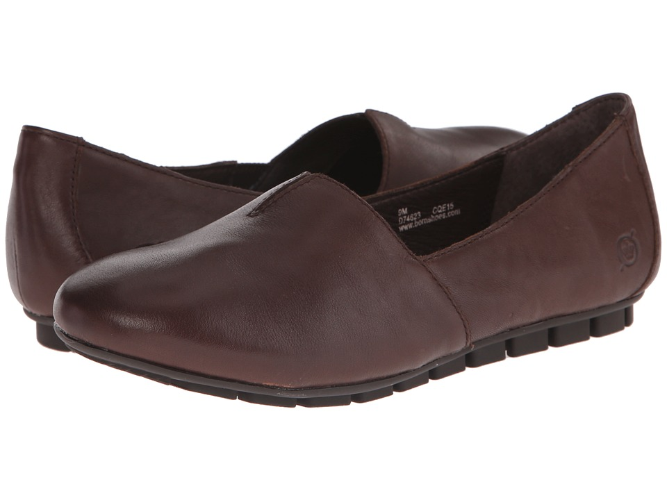 Born - Sebra (Castagno/Dark Brown Full Grain Leather) Women's Slip on Shoes