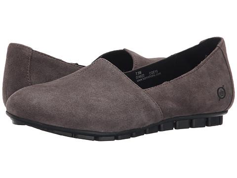 Born - Sebra (Grey Suede) Women's Slip on Shoes