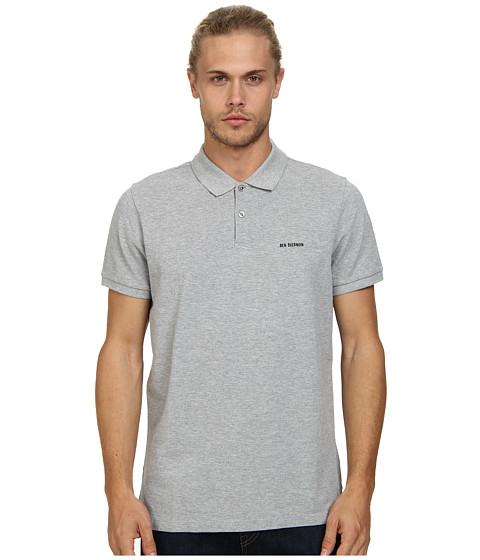 Ben Sherman - Short Sleeve Classic Polo w/ Gingham Trim MC10328 (Oxford Marl) Men's Short Sleeve Knit