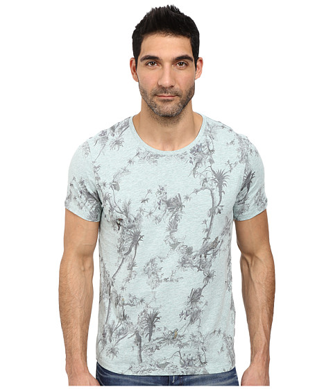 Ted Baker - Talaton Short Sleeve Printed T-Shirt (Light Green) Men