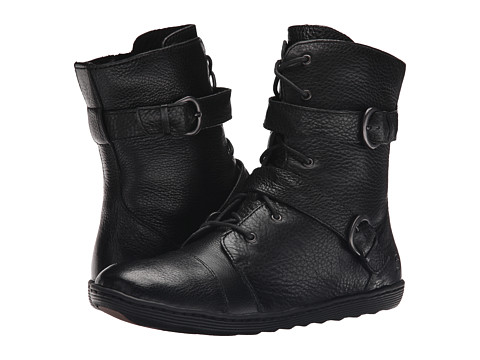 Born - Calina (Black Full Grain Leather) Women's Lace-up Boots