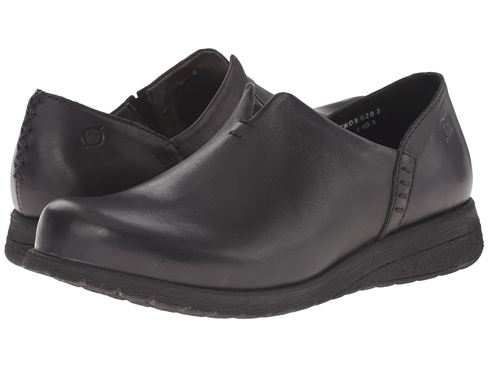 Born - Nani (Black Full Grain Leather) Women's Flat Shoes