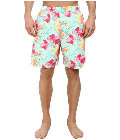 Vineyard Vines - Hummingbird Florl Chappy Trunk (Pool Side) Men