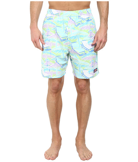 Vineyard Vines - Beach Huts Chappy Trunk (Lime Ice) Men