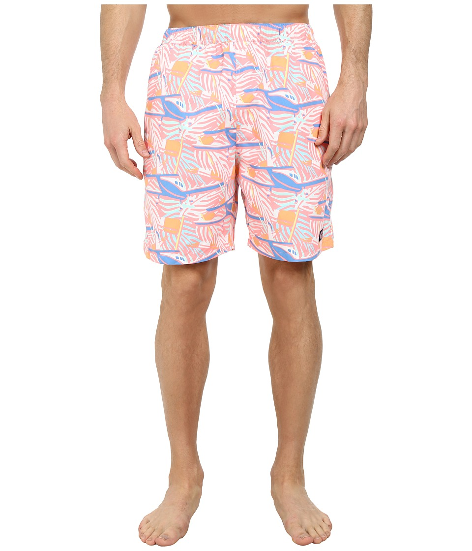 Vineyard Vines - St. Jeans Palms Chappy Trunk (Pink) Men's Swimwear