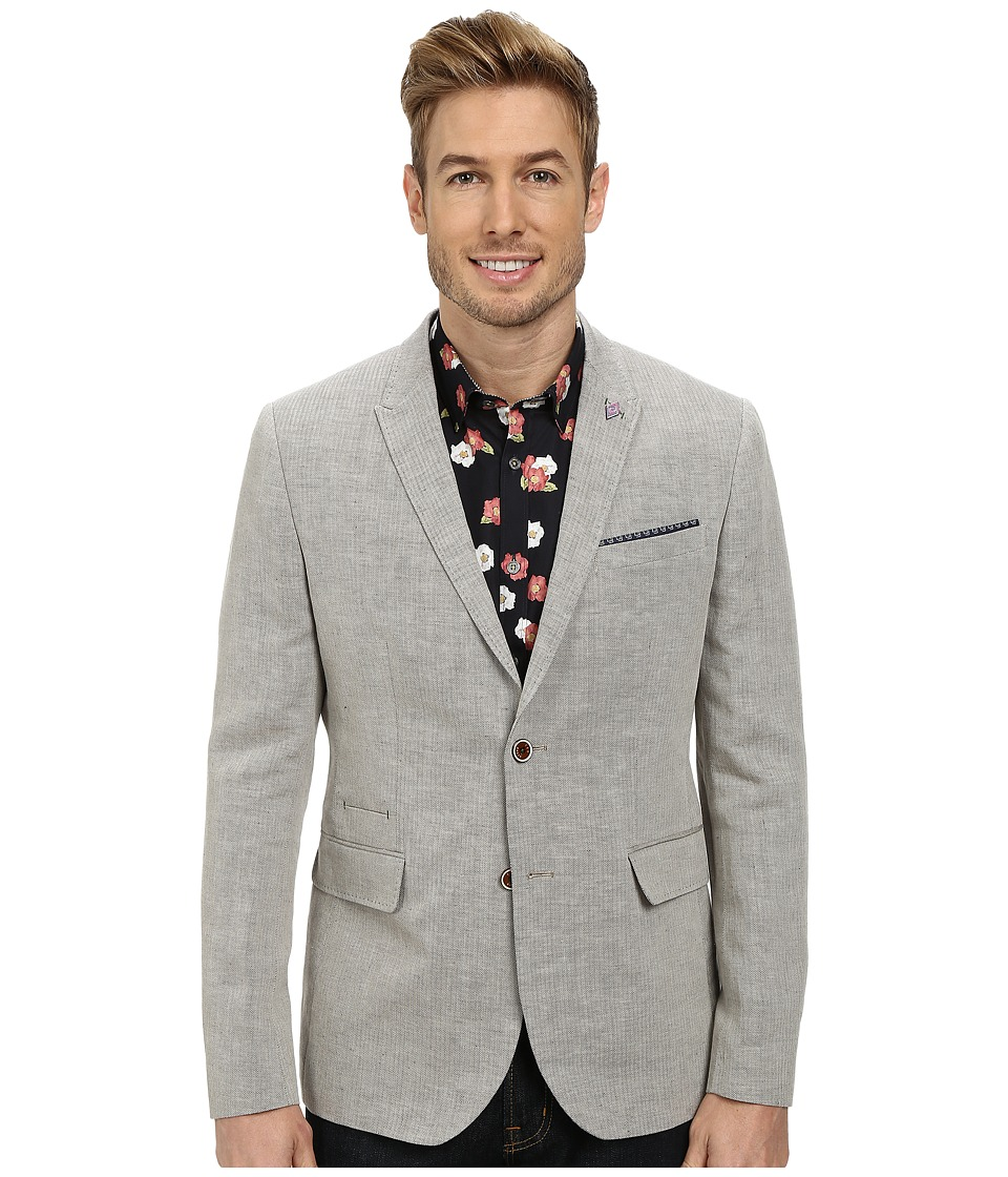 Ted Baker - Niteyes Mini Herringbone Blazer (Natural) Men's Jacket