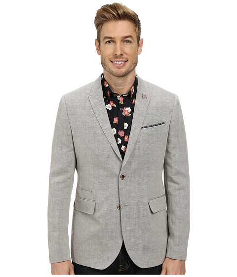 Ted Baker - Niteyes Mini Herringbone Blazer (Natural) Men