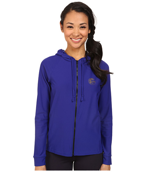 O'Neill - Tech Long Sleeve Zip Hoodie (Cobalt/Cobalt) Women's Sweatshirt