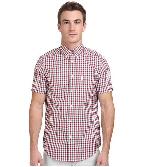 Ben Sherman - Short Sleeve House Ginham Check Woven MA11554A (Off White) Men's Clothing