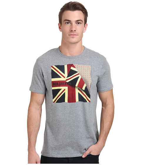 Ben Sherman - Short Sleeve Folded Flag Tee Shirt MB11468 (Silver Chalice) Men's T Shirt