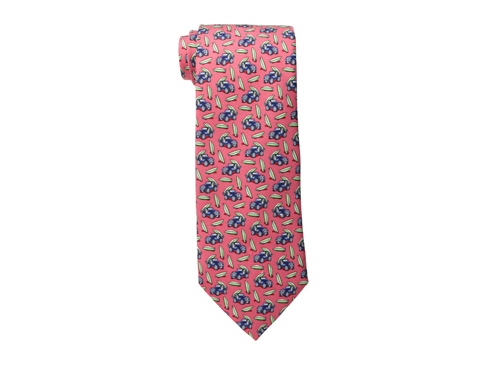 Vineyard Vines - Truck Board Printed Tie (Raspberry) Ties