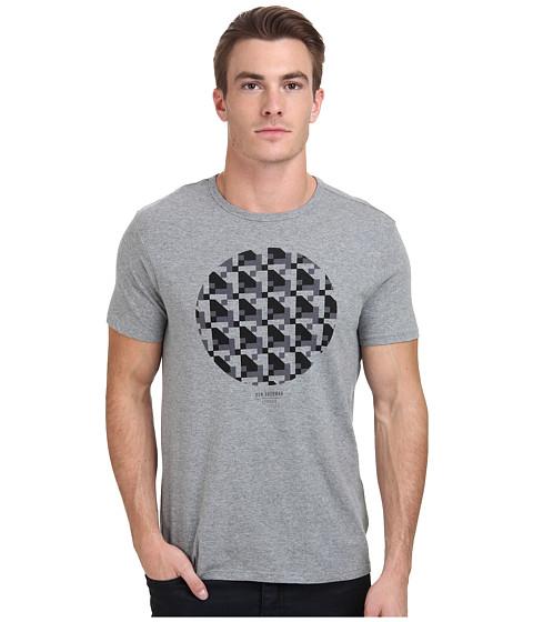 Ben Sherman - Short Sleeve Track Geo Print Tee MB11486 (Silver Chalice) Men