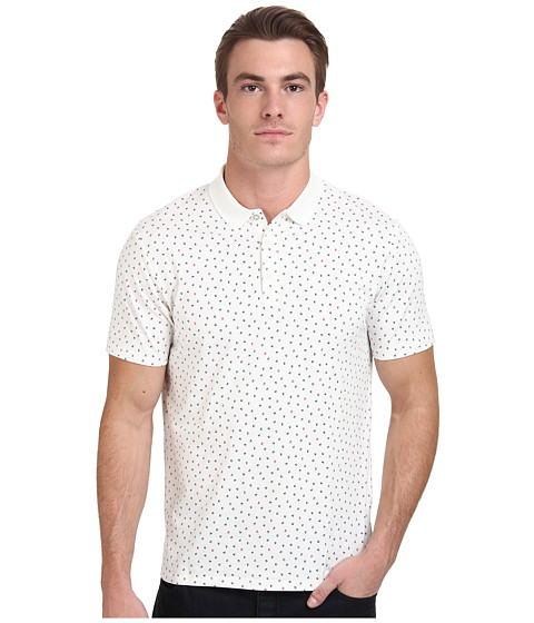 Ben Sherman - Short Sleeve Geo Print Polo MC11453 (Off White) Men's Short Sleeve Pullover