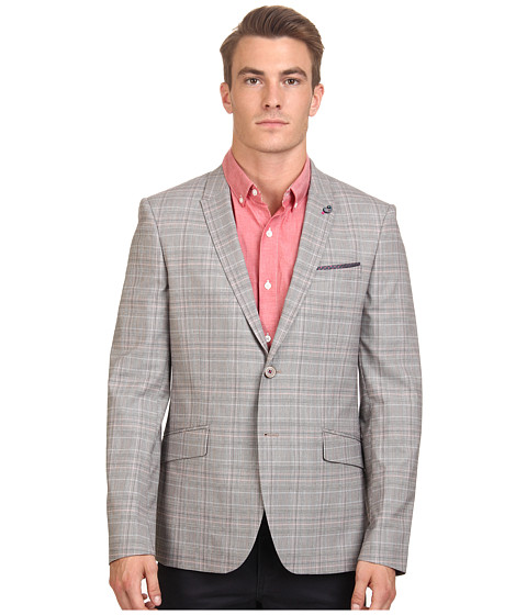 Ted Baker - Havaen Check Blazer (Natural) Men's Jacket