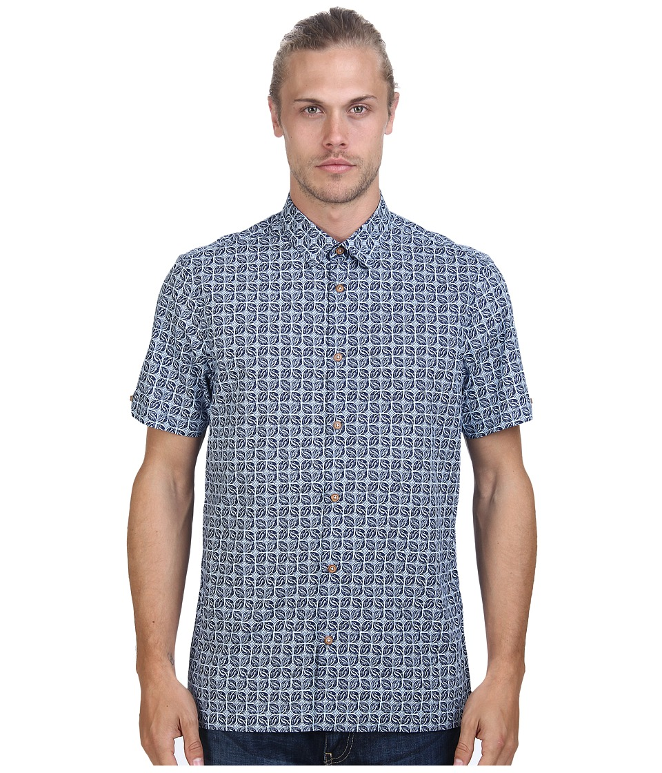 Ben Sherman - Short Sleeve Kite Organic Woven MA11401 (Medieval Blue) Men's Short Sleeve Button Up